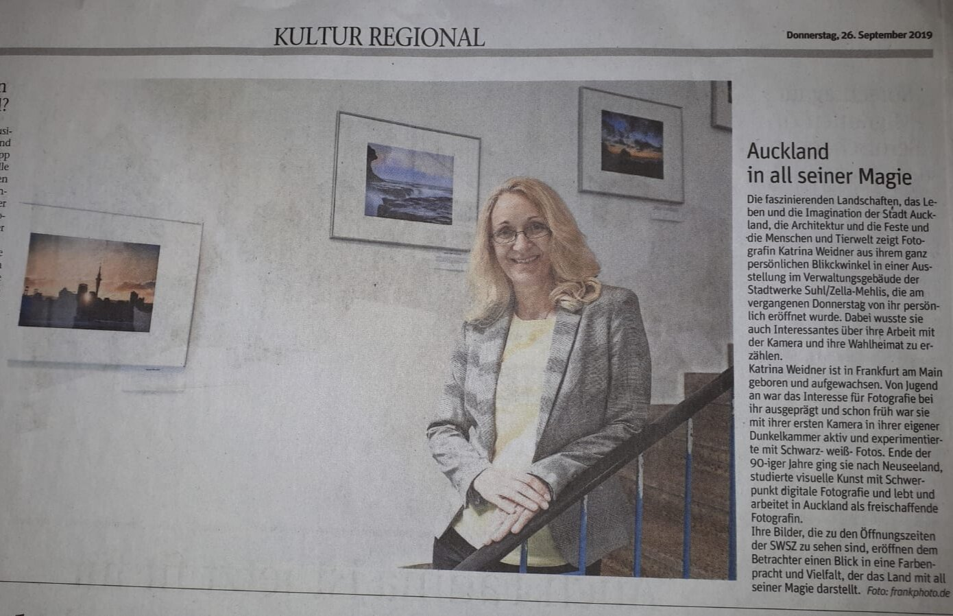 Local coverage of the exhibition.