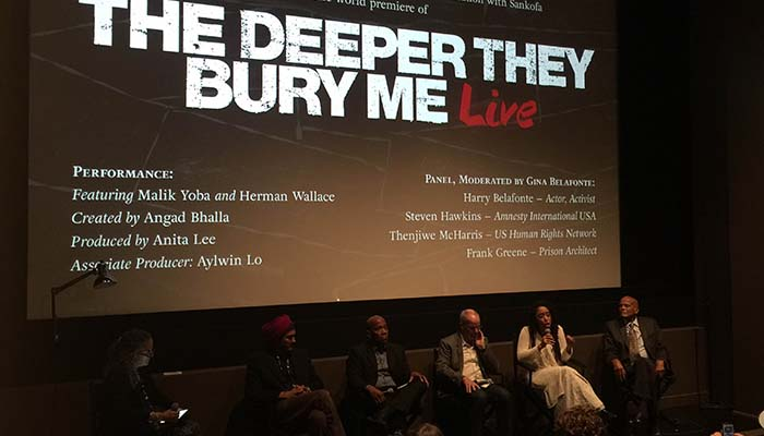 THE DEEPER THEY BURY ME - An evening at Lincoln Center's Howard Gilman Theater. An interactive encounter with one of America's most famous political prisoners — and an indictment of a criminal justice system that confined him to a cement tomb for most of his adult life. Sankofa.org is working to showcase this exhibit in a major museum platform.