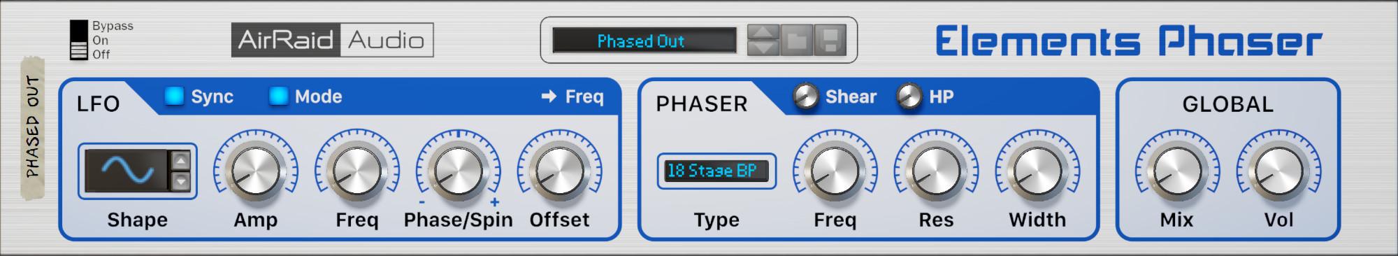 Elements Phaser FRONT