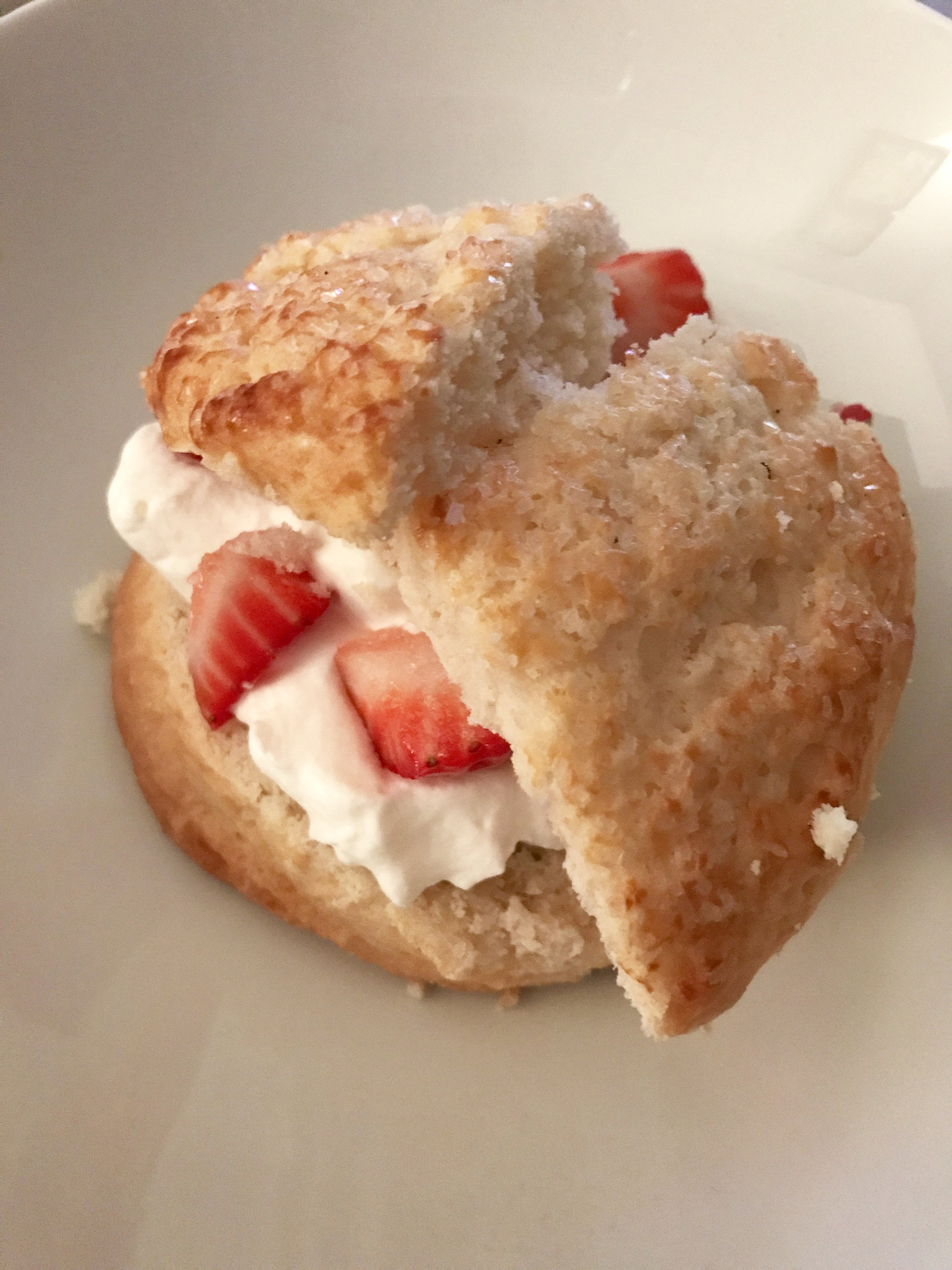 My Husband made this amazing strawberry shortcake for a treat on Saturday night!