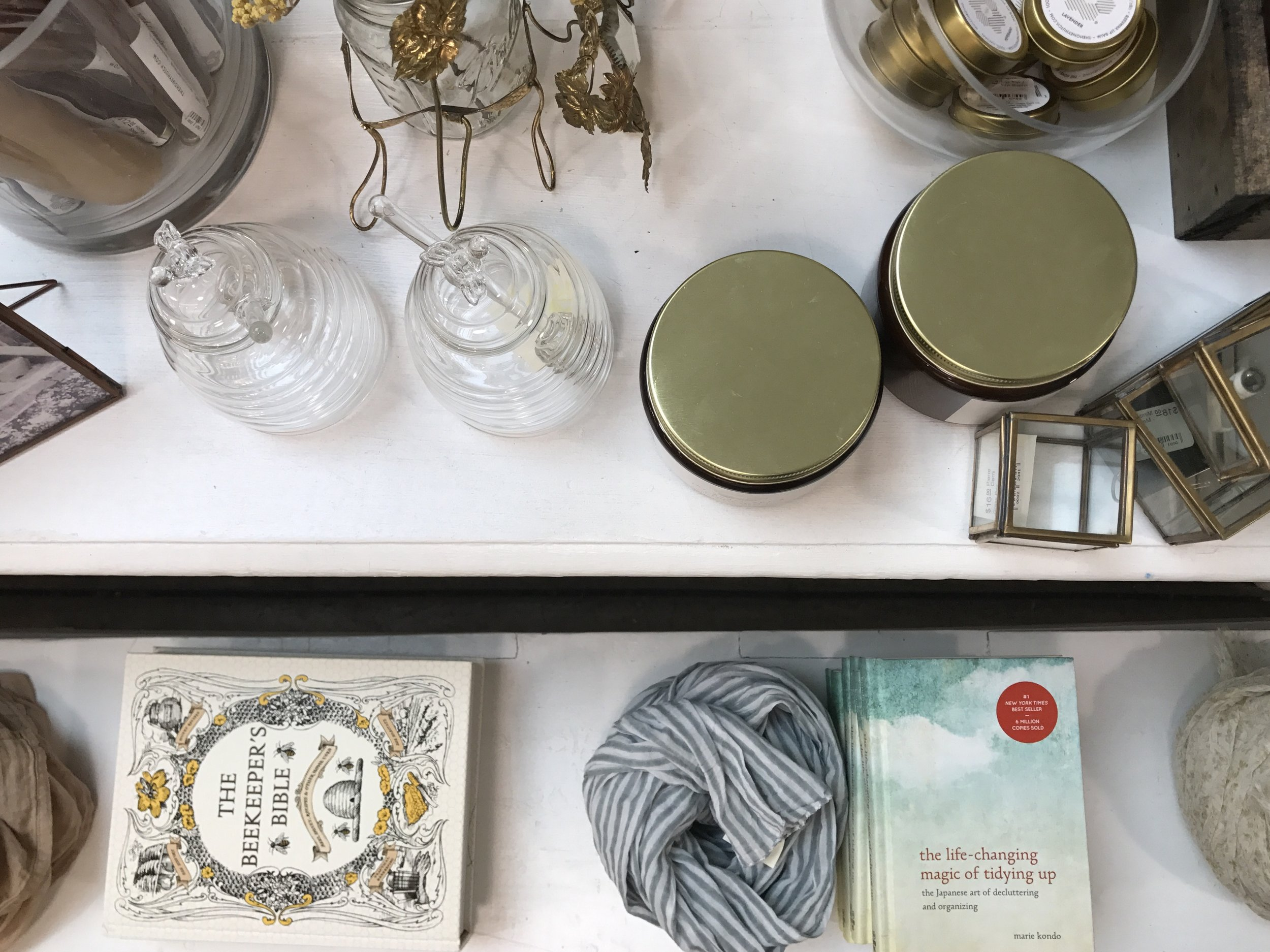 My favorite author -  Marie Kondo  - seem's to follow me everywhere! Snapped this picture at a store in Mill Valley that we visited over the weekend!