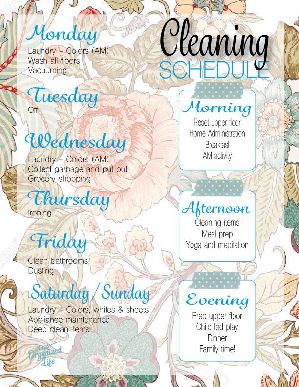 2019 Cleaning Schedule (Lauren)