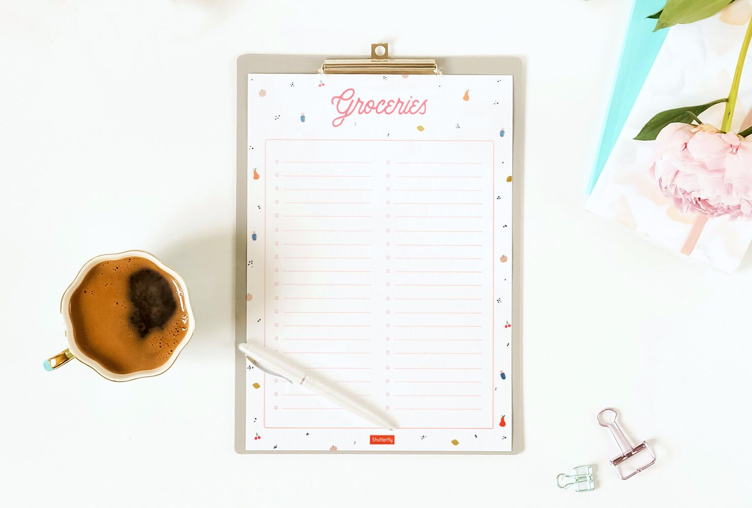 Need a List?! - Check out this free printable from Shutterfly!