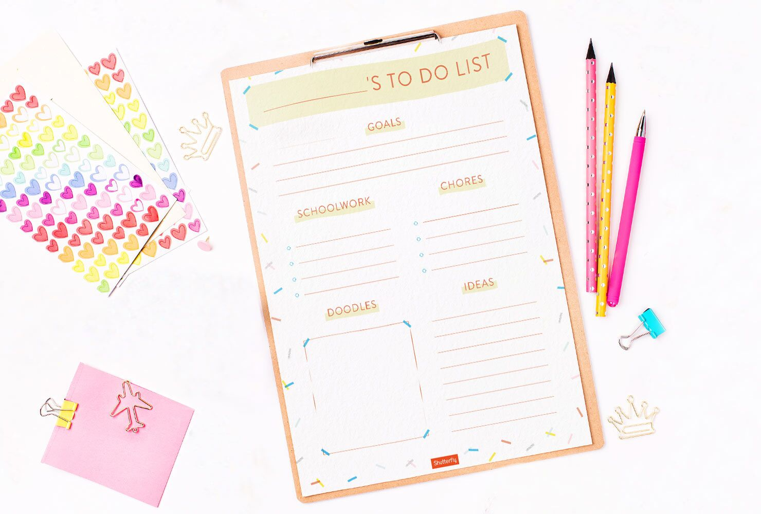 Kid's To Do List! - Check out this Shutterfly printable to help organize your kiddos this year!