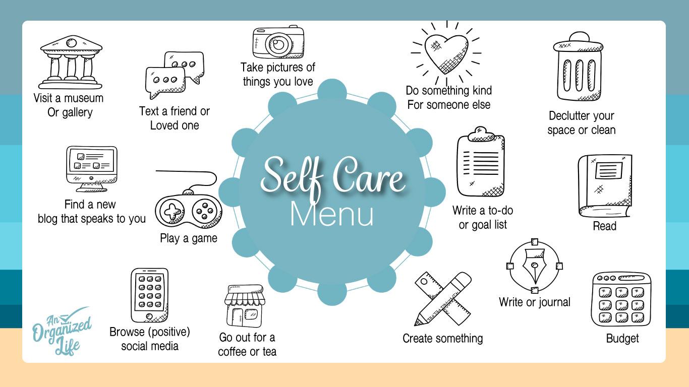 Self Care Menu