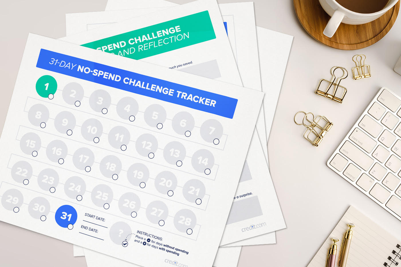 No spend printable! - Check out this free printable to jump start your 'no spend challenge'!