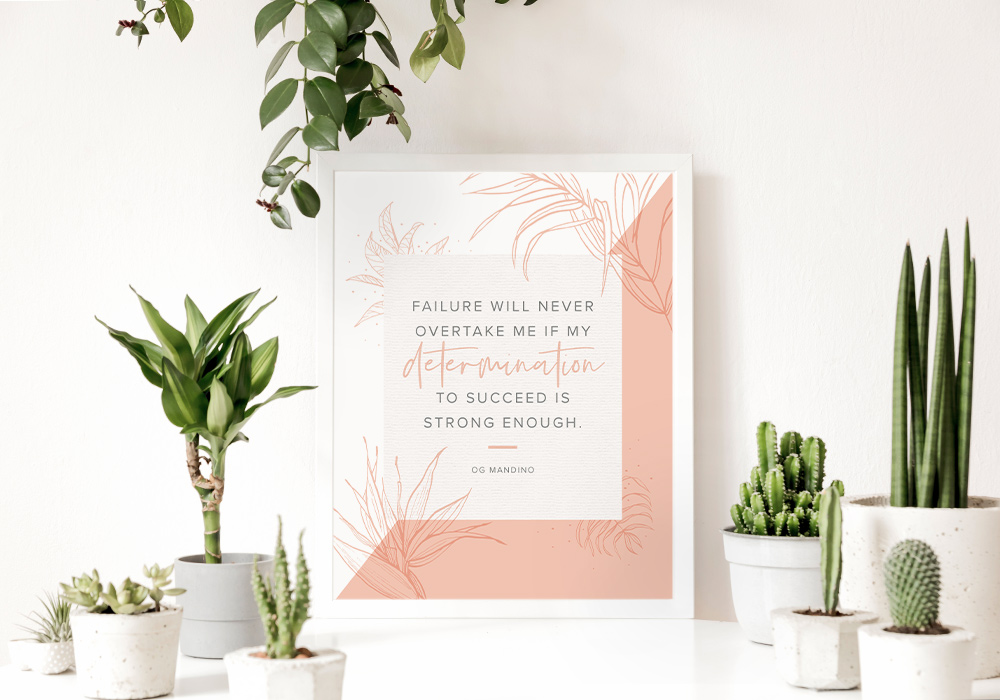 52 Inspirational Words and Quotes  - to Create a Better Mindset + Floral Printables!
