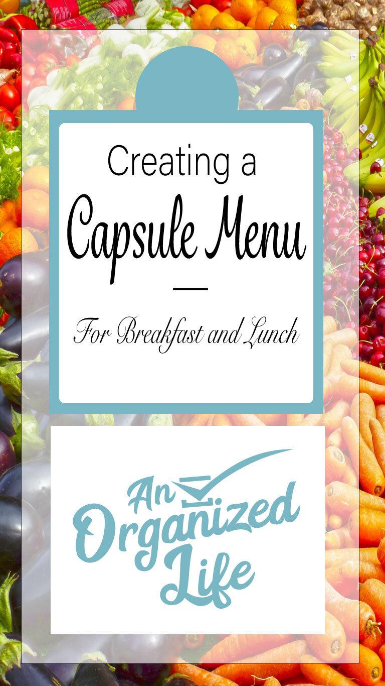 Create a capsule menu