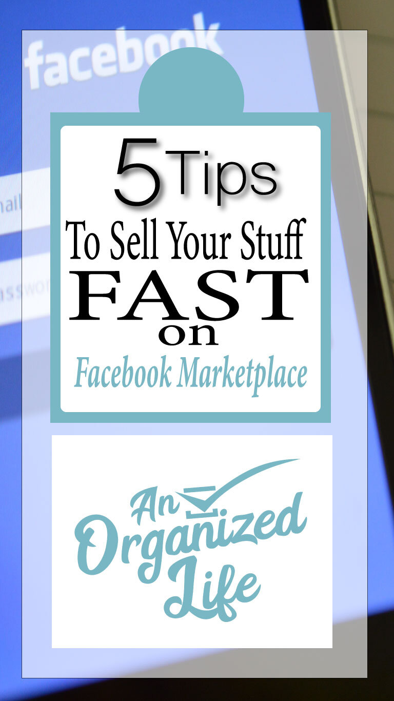 Sell your stuff fast on facebook marketplace!