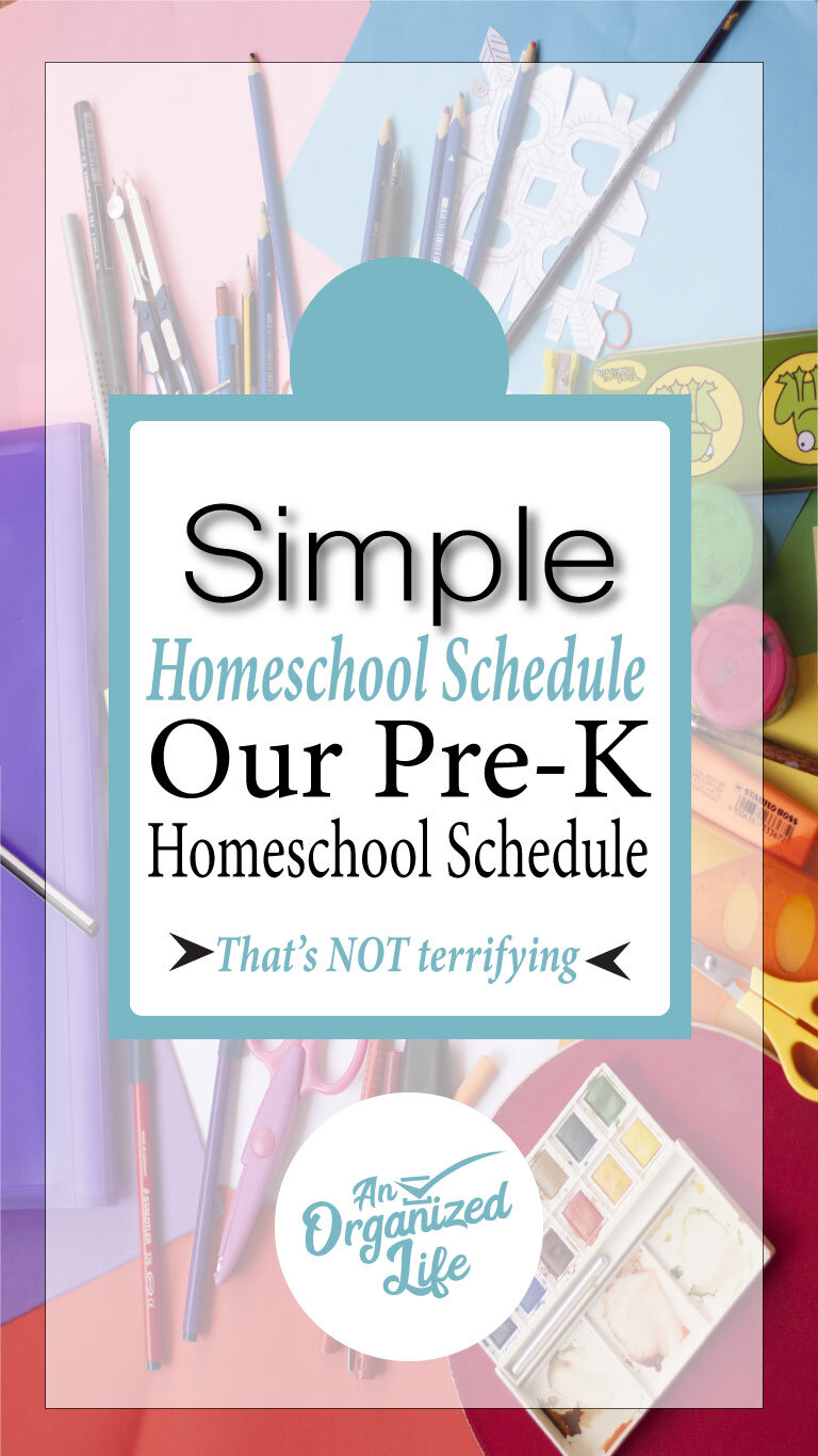 Our homeschool schedule: An Organized Life