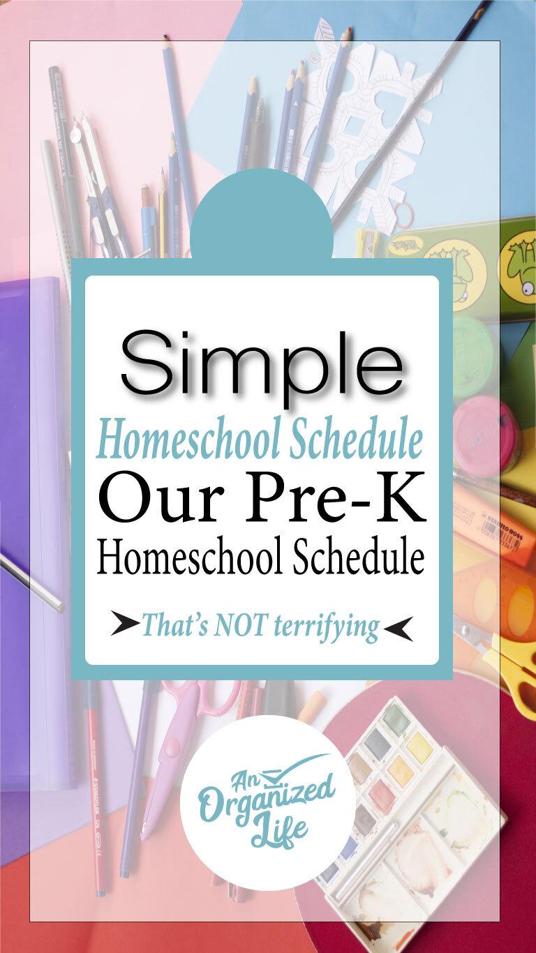 Our homeschool schedule: An Organized Life