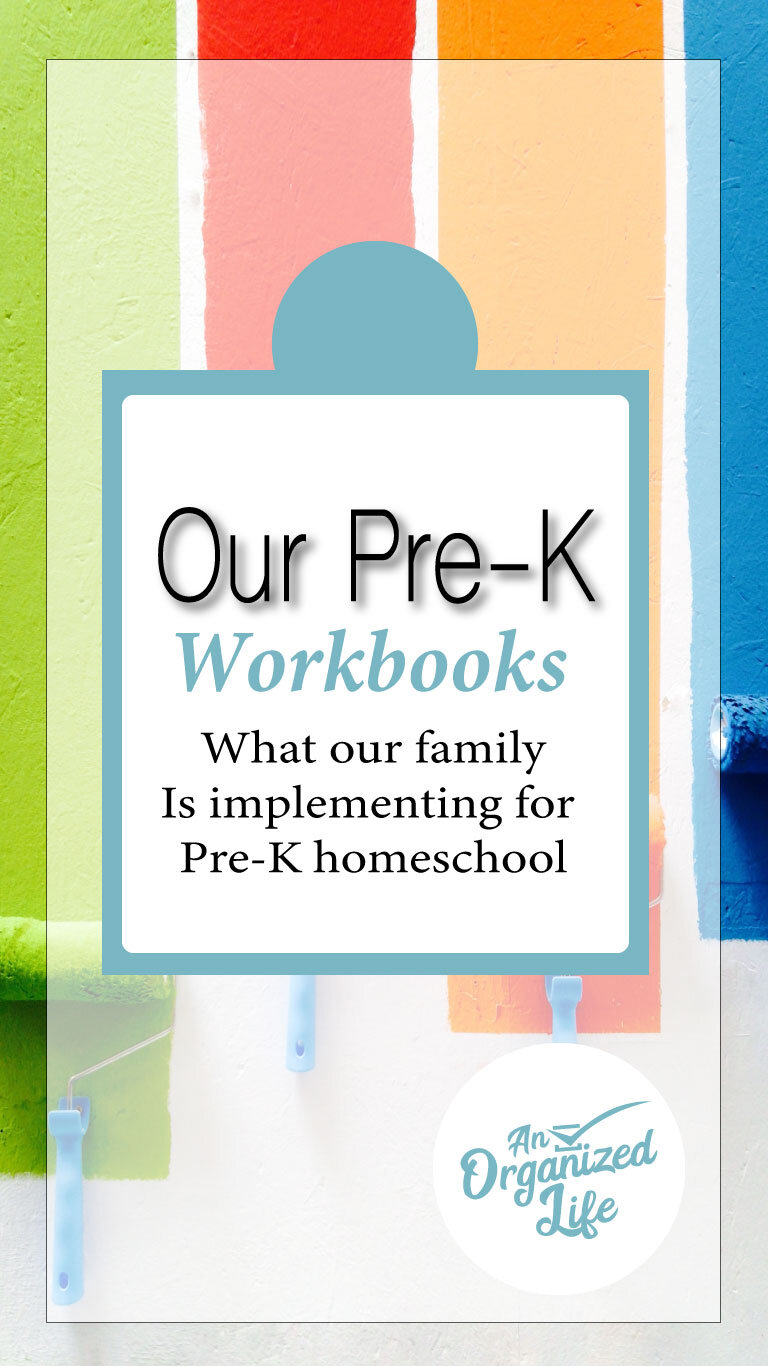 :Pre-K Workbooks: An organized life