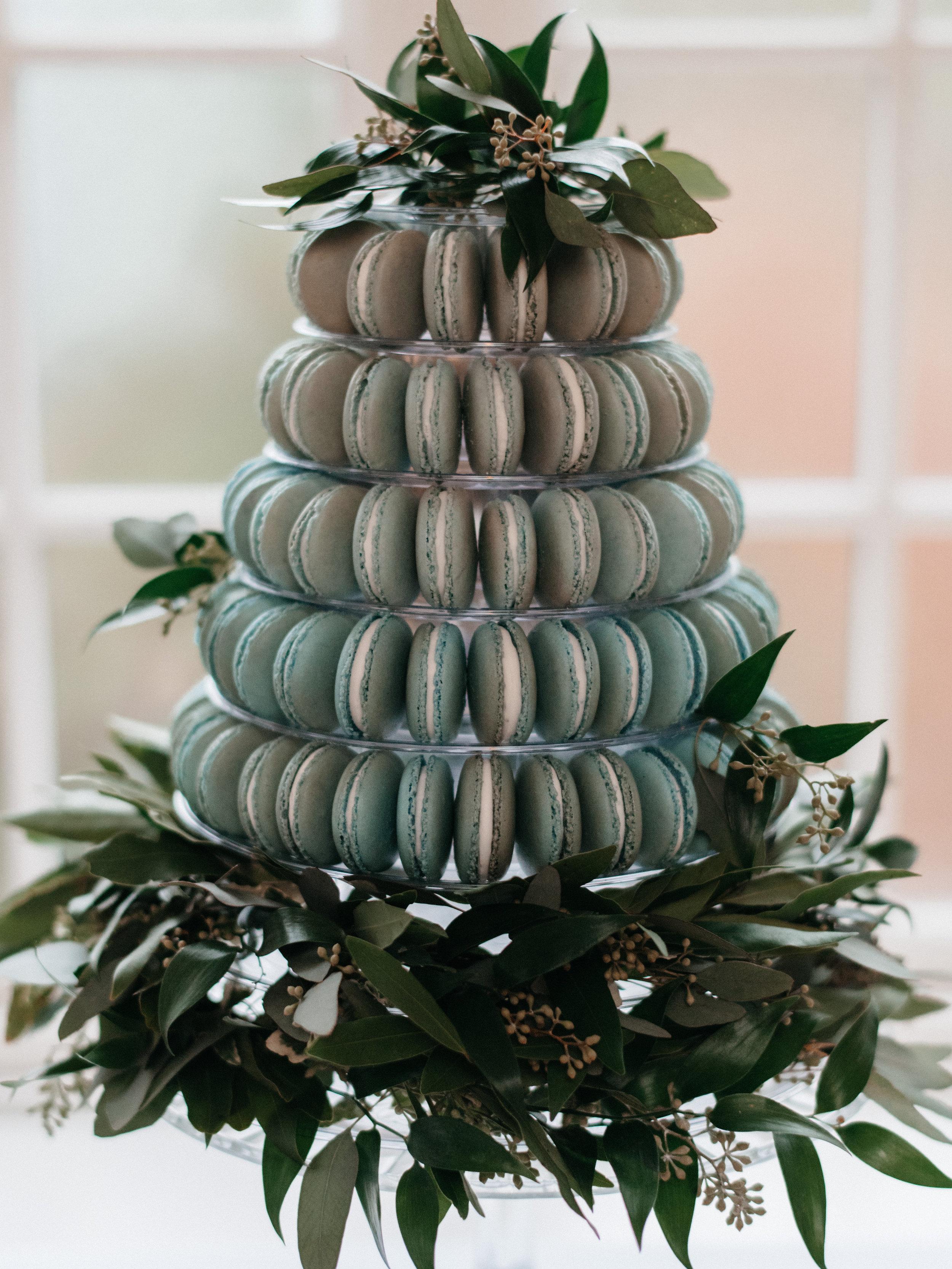 macaron tower blue