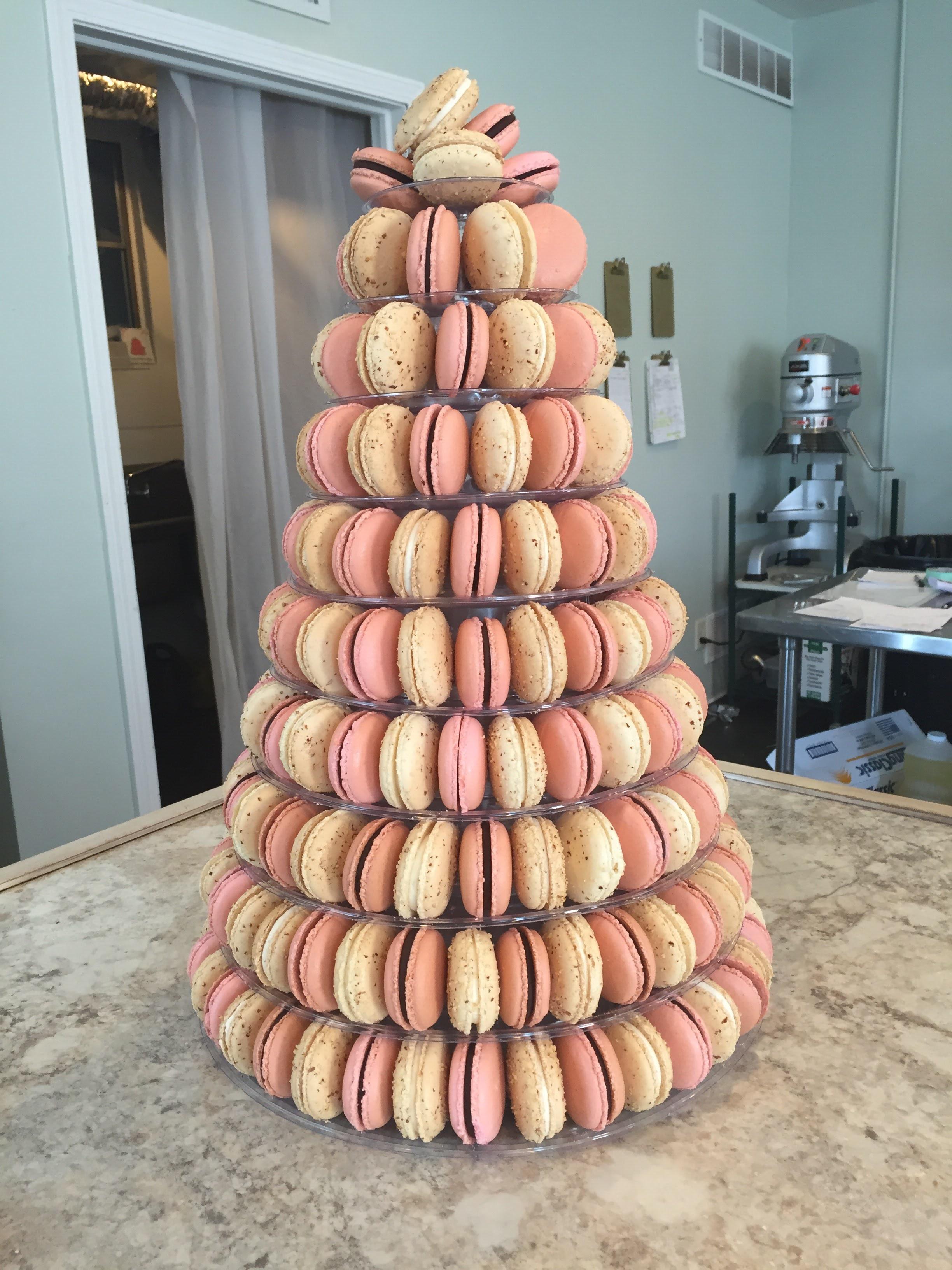 tall macaron tower
