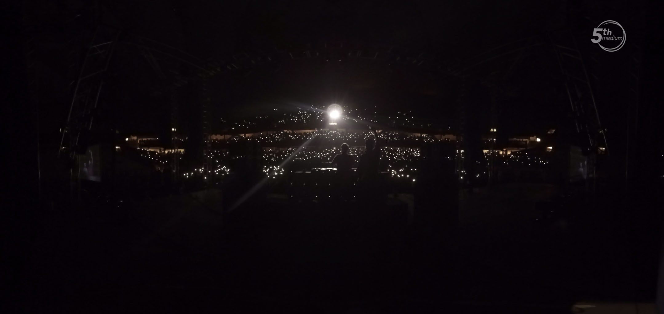 This is the view from the backstage camera