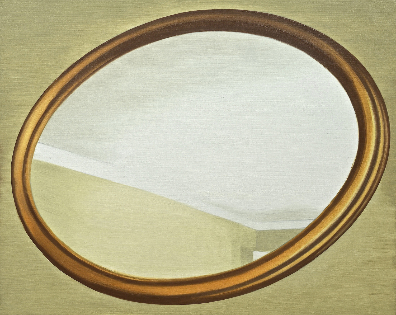 Untitled (Mirror I)  2016 oil on canvas on panel 24 x 30 inches