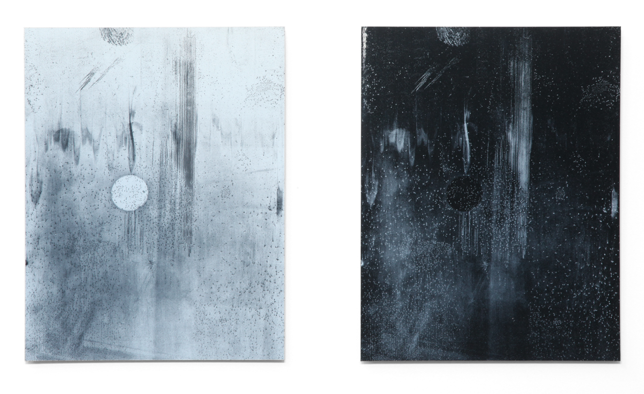 Nigredo Albedo IV  2015 diptych; archival inkjet prints, laminated and mounted to acrylic 14 x 11 inches each