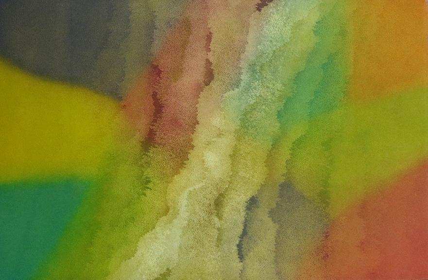 LUCE MEUNIER  Les éléments souffle  2016-2017 monotype; aquatint on BFK Rives paper 12.5 x 19.5 inches