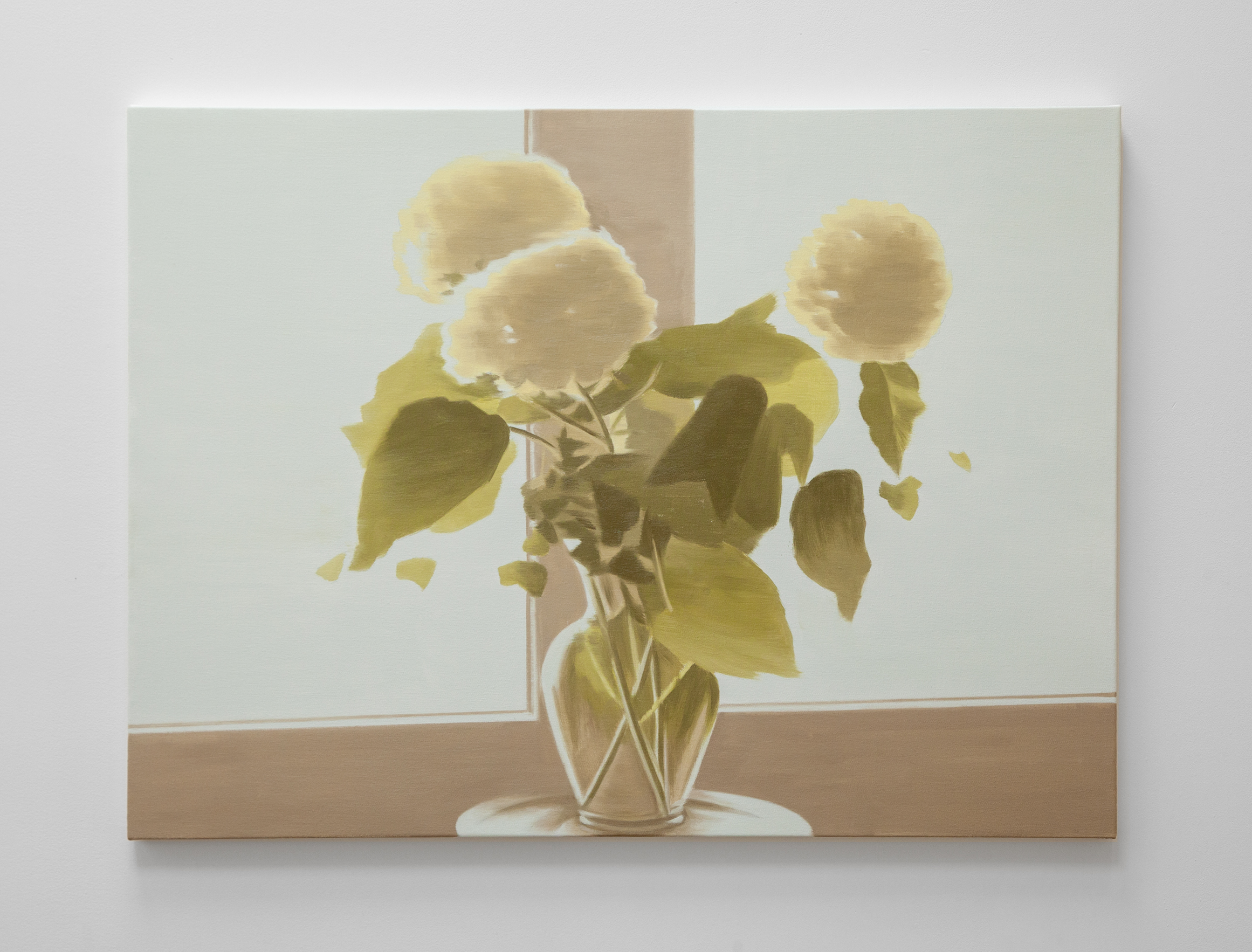 NICK OSTOFF  Bouquet Silhouette (large pale 1)  2019 oil on canvas on panel 30 x 40 inches
