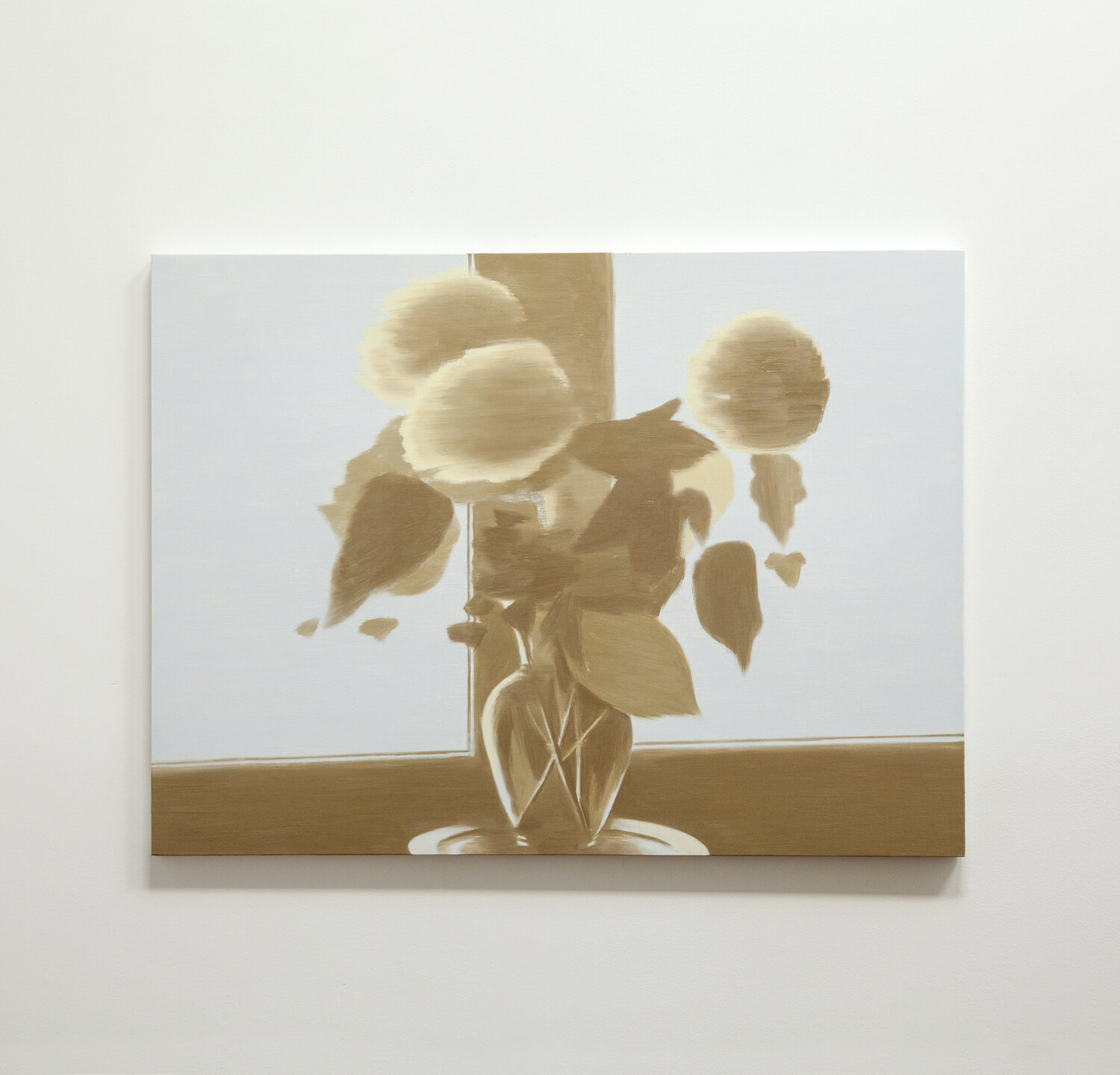 Bouquet Silhouette (large pale 2)  2019 oil on panel 30 x 40 inches