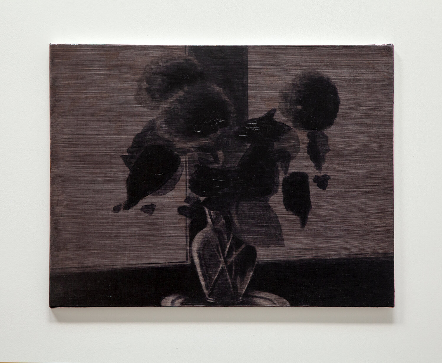 Bouquet Silhouette (dark burgundy)    2019 oil on canvas on panel 20 x 26.5 inches