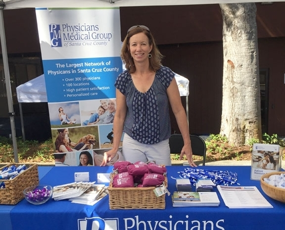 Lisa McGrath at the Alliance Health Fair