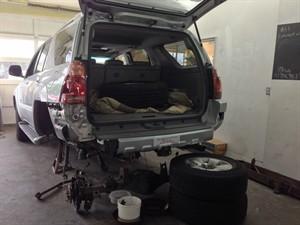 Rear bumper work