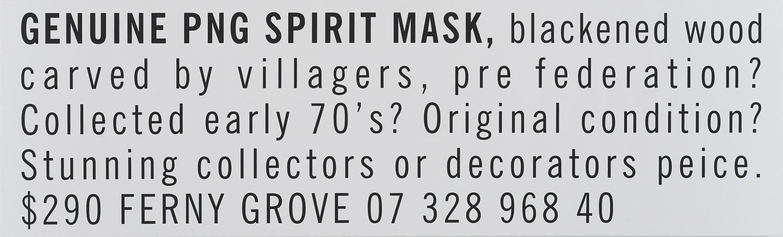 Genuine PNG Spirit Mask 2011