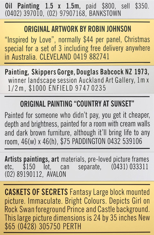 Paintings, Prints & Wall Hangings 2010 (Fisher's Ghost winner)