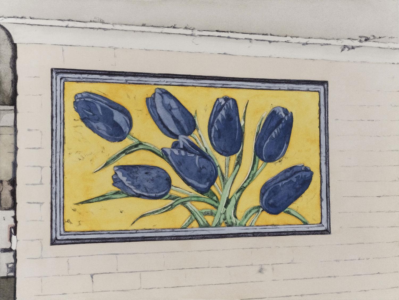 Huge flower painting 2011