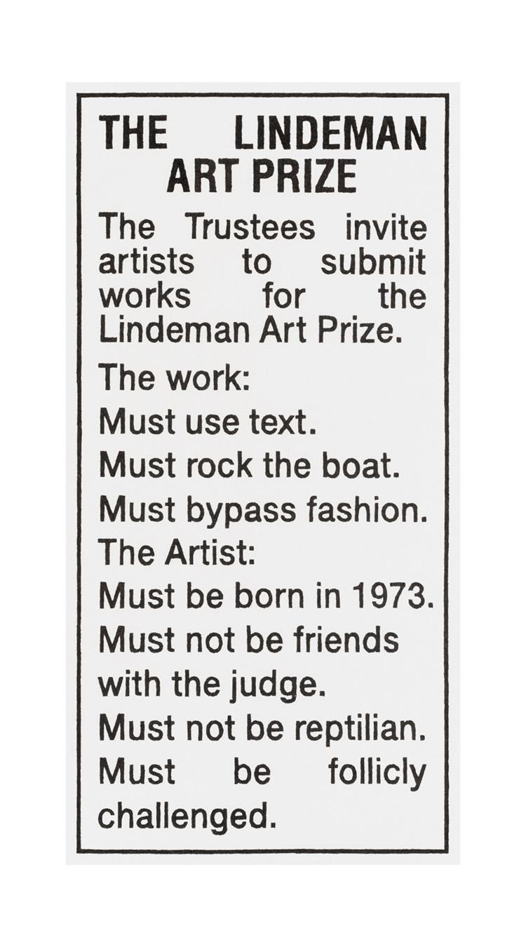 THE LINDEMAN ART PRIZE 2019