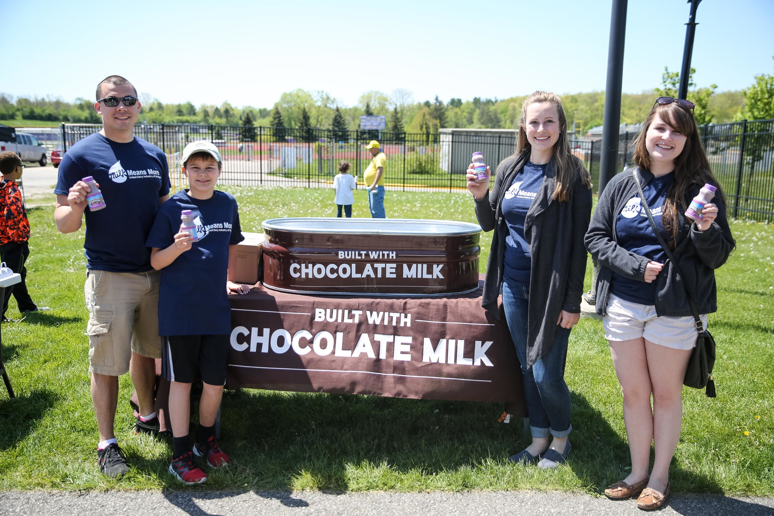 """The Horning Family was honored as the """"Featured Farmer"""" at the Michigan Milk Cup kickoff on May 14th"""
