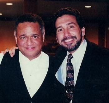 Andre watts & Evan Tublitz                         after Concert in San francisco in 2001