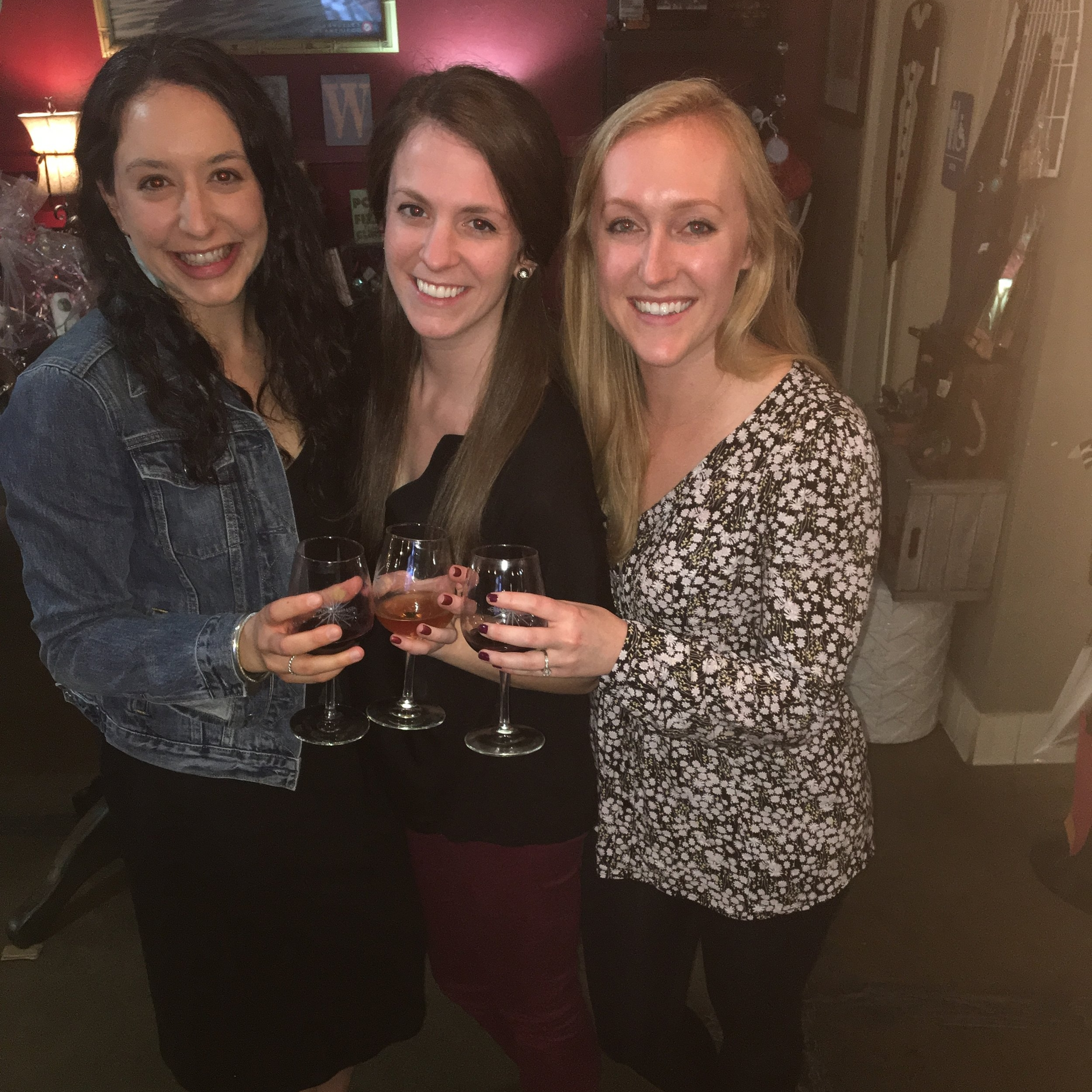 Wine tasting with the girls!