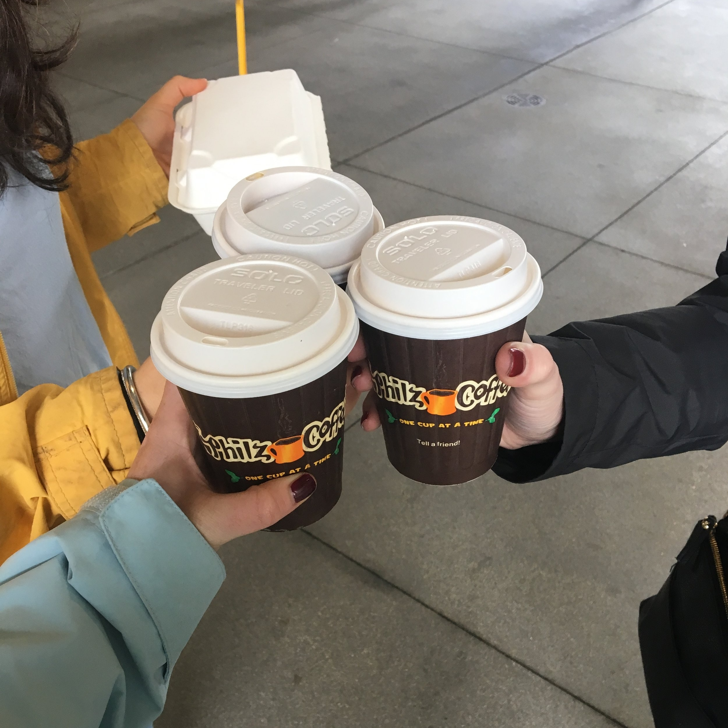 You better believe we started every day with a coffee cheers
