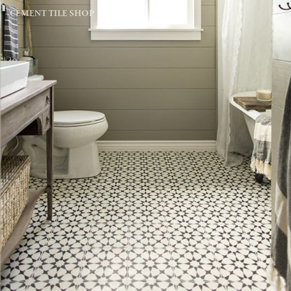 Patterned Cement Tile Floors...Ooh la la