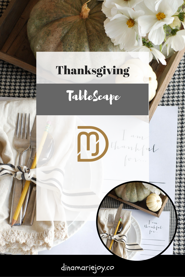 Thanksgiving Table Setting by Dina Marie Joy