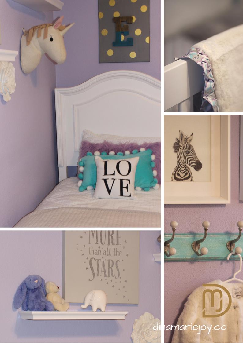 Lavender Little Girls Bedroom designed by Dina Marie Joy