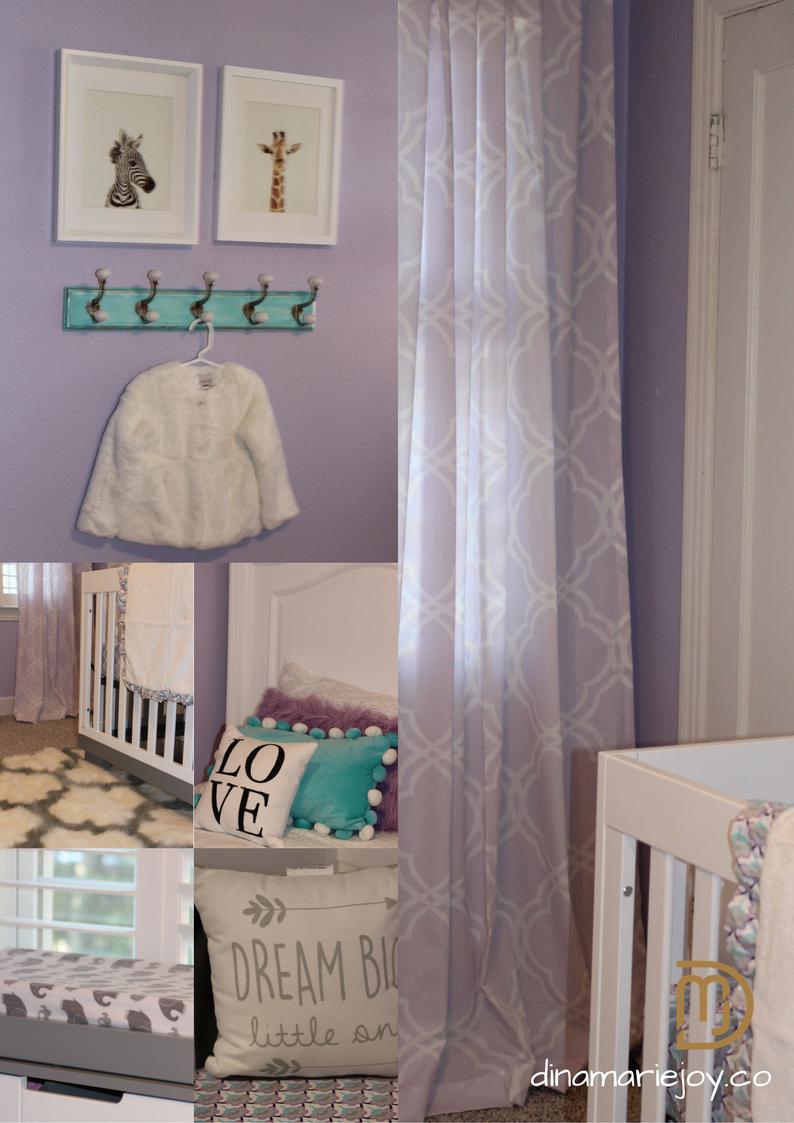 Shared little girls bedroom designed by Dina Marie Joy.