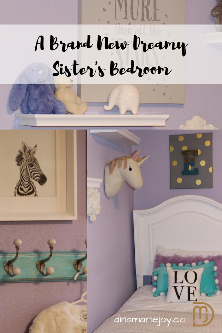 Dreamy Lavender Little Girls Bedroom designed by Dina Marie Joy.