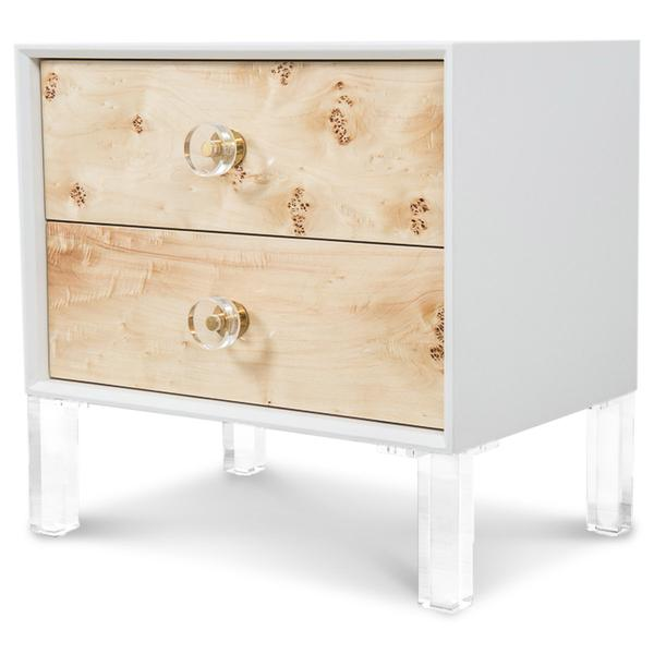 Every Vacation Home Bedroom needs a Side Table with Drawers so your guests can leave all their personal items in a safe spot. Designed by Dina Marie Joy.