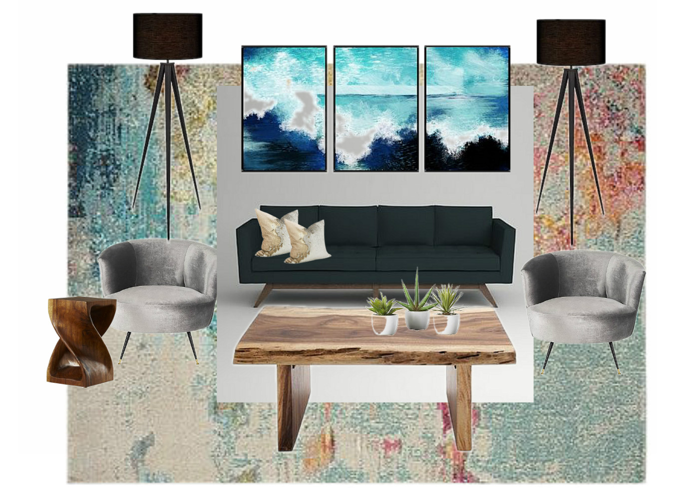 Living Room Design for a Cancer Zodiac Sign Client