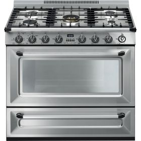 """Victoria Aesthetic  EAN13: 8017709220945  Free-standing All-Gas """"Victoria"""" Range 36"""" - Stainless steel   smegusa.com"""