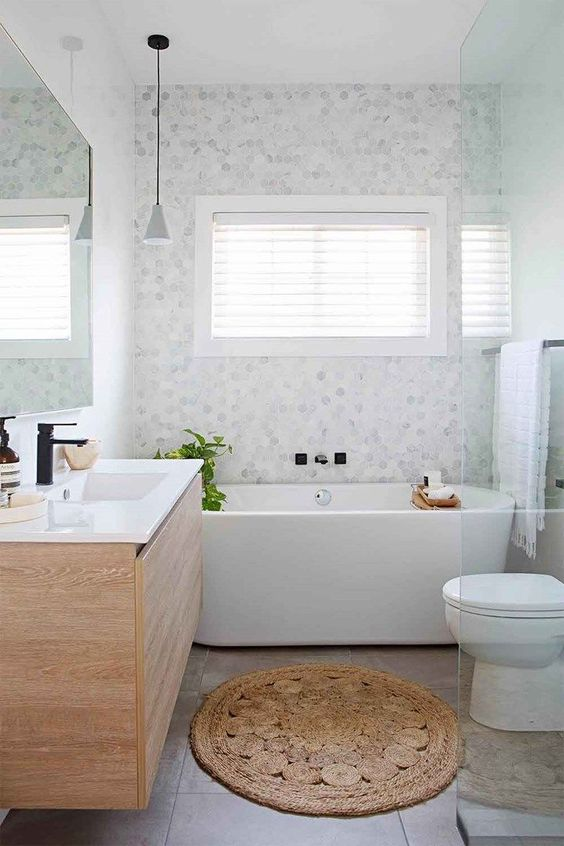 Modern Bathroom Inspiration. Interior Designer Dina Marie Joy. E-Design Available.