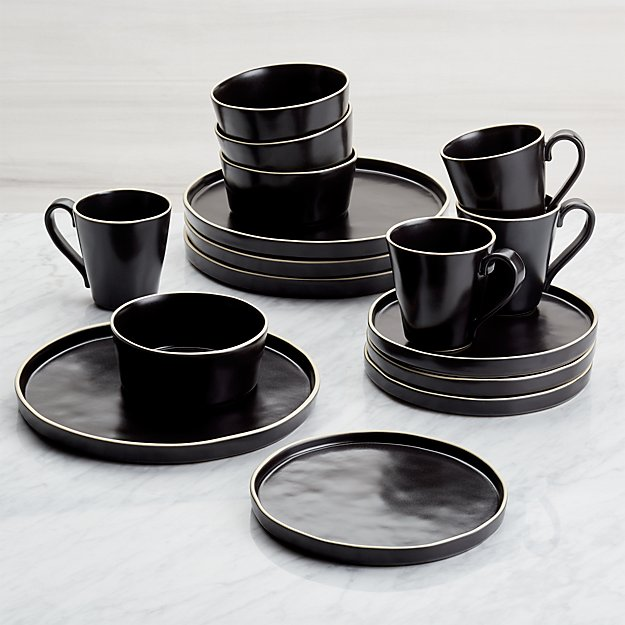 Dina Marie Joy's Favorite Black Dishes from Crate&Barrel