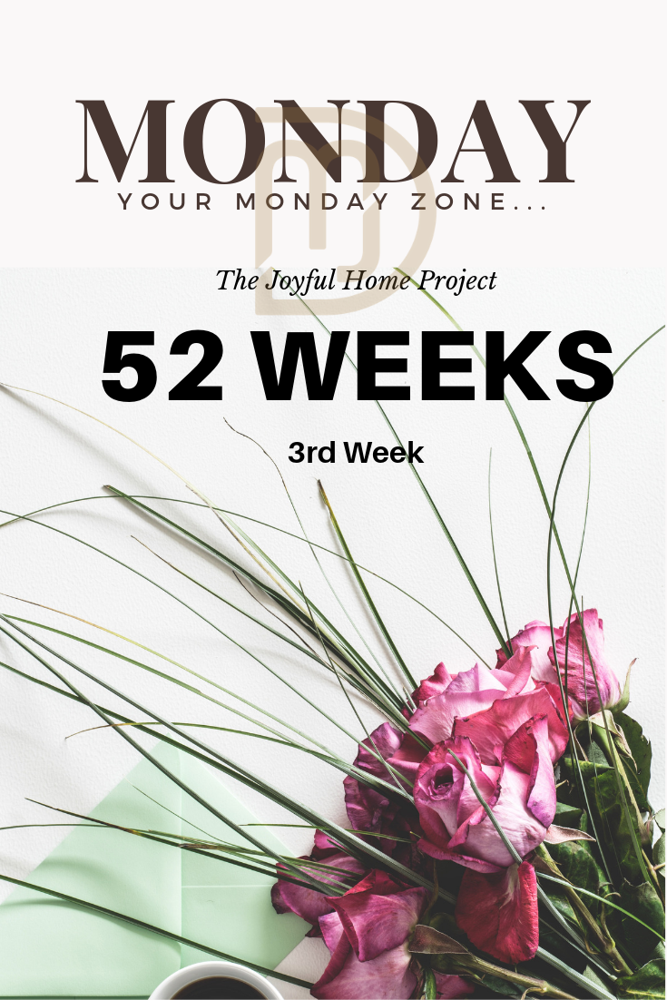 The Joyful Home Project. 3rd Week is The Monday Zone at www.dinamariejoy.co