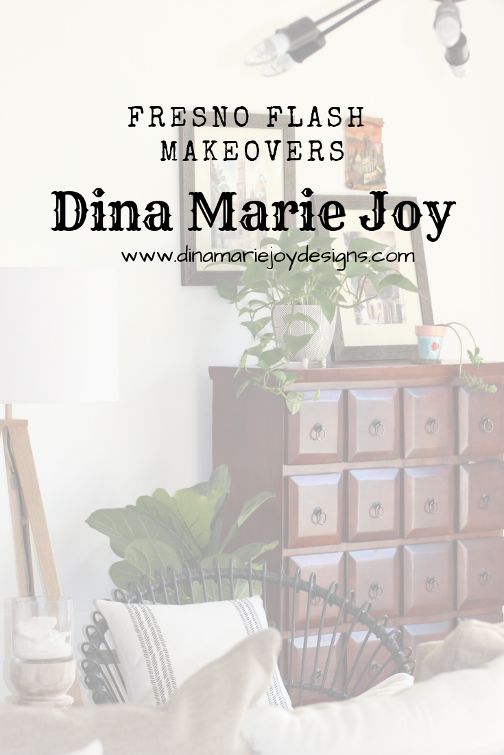 Fresno California Interior Design by Dina Marie Joy. Fresno Flash Makeovers, come home from work to a new styled home. www.dinamariejoy.co