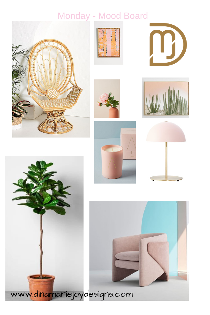 Monday Mood Board by Dina Marie Joy. Dina Marie Joy is a Vacation Home Expert. www.dinamariejoy.co
