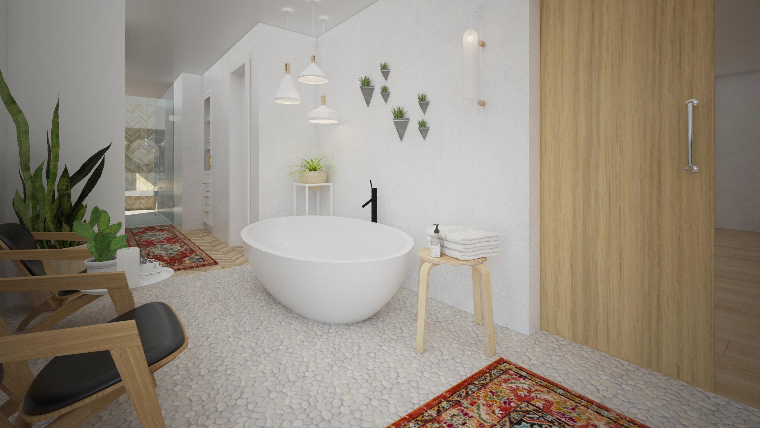 Master Bath Remodel Rendering by Dina Marie Joy Designs