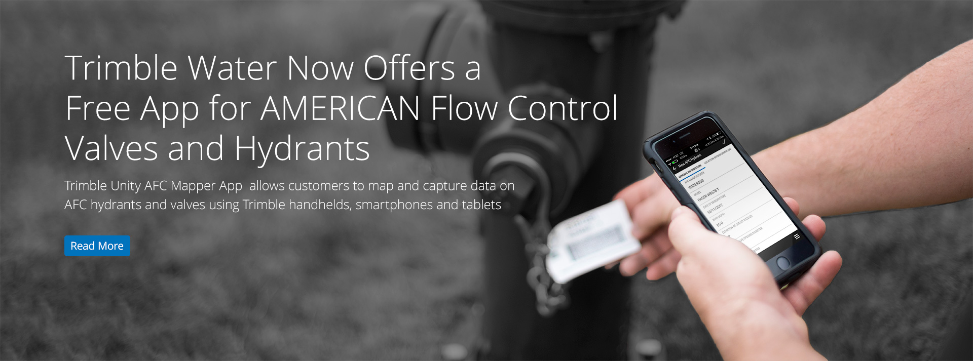 >Trimble Water Now Offers a Free App for AMERICAN Flow Control Valves and Hydrants